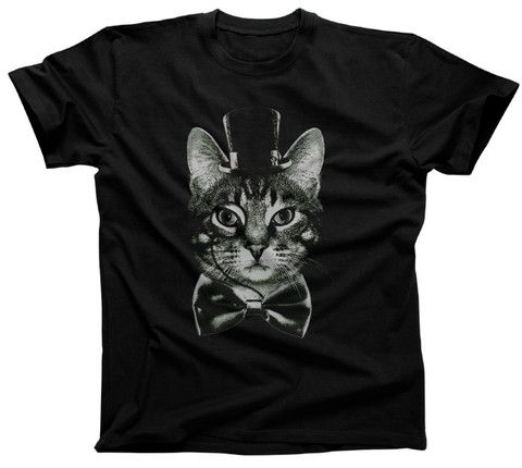 Men's Steampunk Cat T-Shirt - Funny Victorian Cat Shirt. Assorted colors; $25.00 from #Boredwalk, plus free U.S. shipping! Click to purchase!