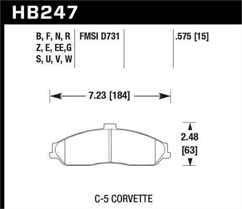 Ebay Sponsored Hawk Hb247q 575 Dtc 80 Brake Pads C 5 Corvette Brake Pads Corvette 2006 Pontiac Gto