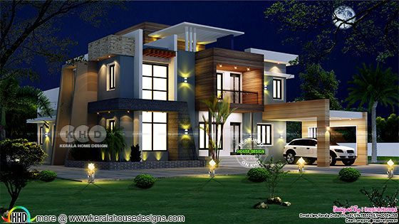 Ultra Modern House Plan With Estimated Construction Cost Kerala House Design Modern House Facades Modern House Plan