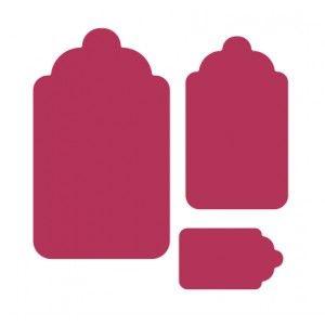 Troqueladora etiquetas - Medidas aprox.: 1,6 cm, 3,5 cm y 5 cm.