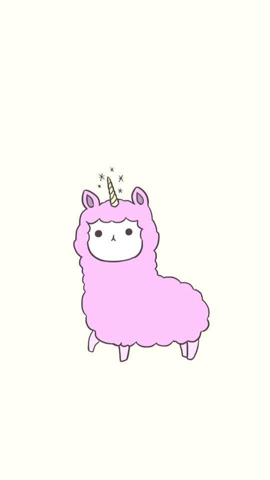 Chibi 128 48 Beautiful Llamacorn In 2019 Cute Cartoon Wallpapers Kawaii Drawings Cute Kawaii Drawings
