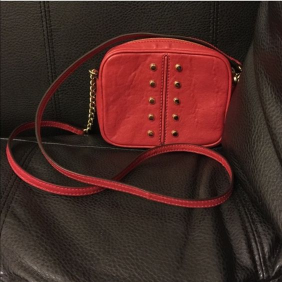 Michael by Michael Kors Red Crossbody NWT New without tags attached!  Has slots inside for cards as shown. MICHAEL Michael Kors Bags Crossbody Bags