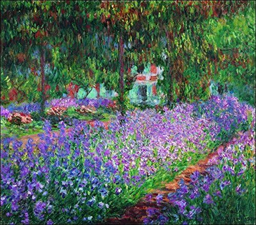 Monet El Jardin Del Artista Giverny De Impresion En Off Https Www Amazon Es Dp B016mxf9ea Ref Cm Sw R Pi Dp U X Monet Iris Monet Paintings Claude Monet