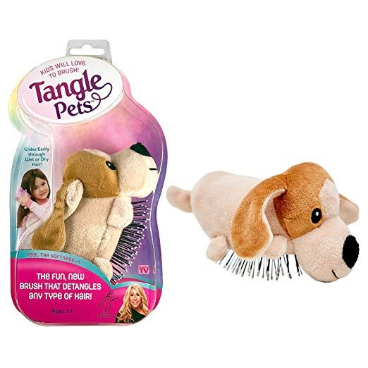 Tangle Pets Pepper The Puppy The Detangling Brush In A Plush