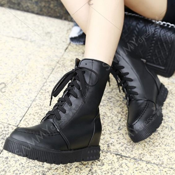 Combat Boots With PU Leather and Platform Design | Products ...