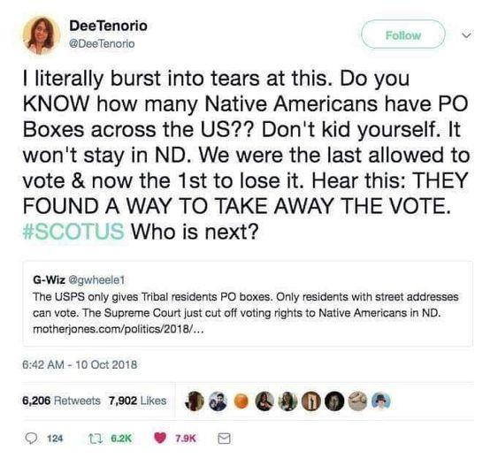 Right to Vote revoked