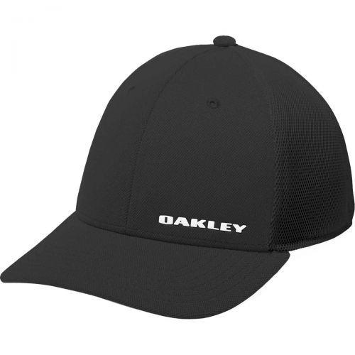 Oakley Silicon Bark Trucker 4.0 Men's Flexfit Hats, color: Black, category/department: men-hats