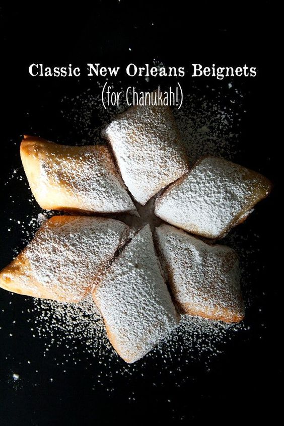 Classic New Orleans Beignets - This will add a new spin to your Chanukah Sufganiyot. This is the very best recipe for New Orleans Beignets. Fry up these babies, cover them in powdered sugar, and let the good times roll! Your family will beg you for more. | Miri in the Village