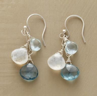 Moonstone & Topaz Earrings - Sundance