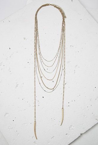 Tooth Pendant Layered Necklace | Forever 21 | #f21accessorize #lyoness