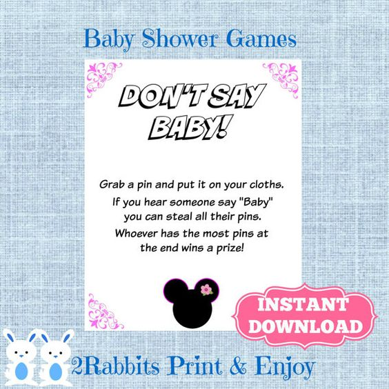 baby baby minnie mouse mice baby showers showers baby shower games