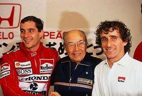 Soichiro Honda- founder of Honda Motor Co. With Senna and Prost! Fantastic photo!!!