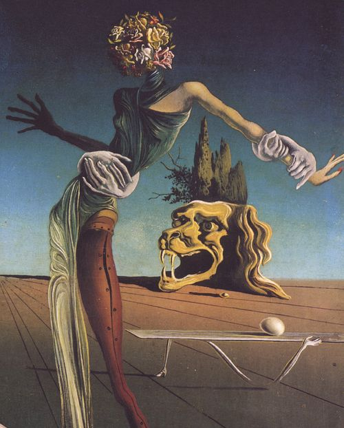 The Woman with a Head of Roses (partial) by Salvador Dalí