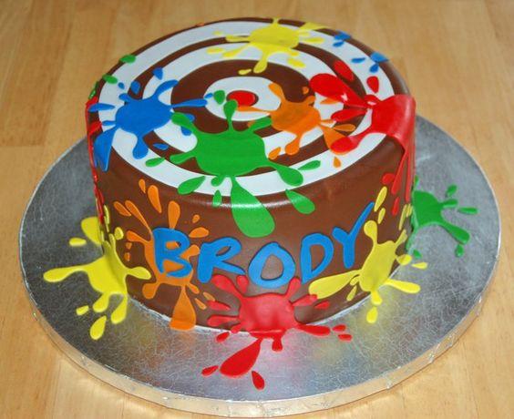 Soccer Ball Cake Design : Paintball Themed Birthday birthdays! Pinterest ...