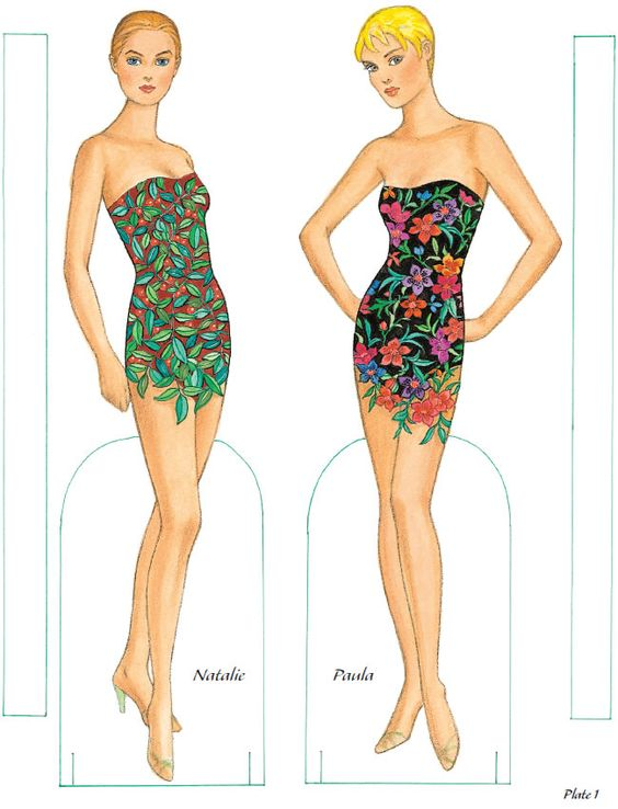 Flower Fashion Fantasy 1 from Dover Publications