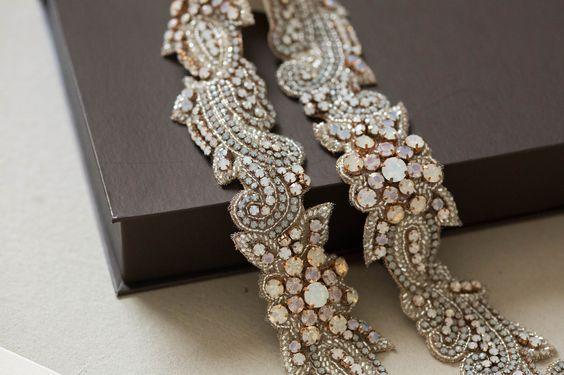 Rosegold bridal dress sash from MillieIcaro