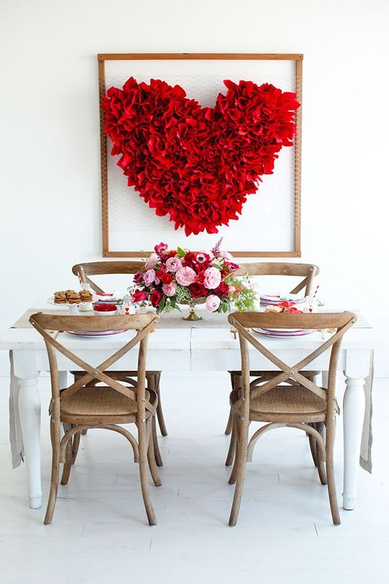 DIY Heart Backdrop - perfect for Valentine's Day or weddings: