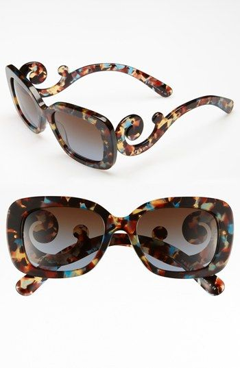 ray ban round sunglasses nordstrom  prada 'baroque' 54mm sunglasses
