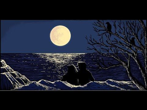 How To Draw Full Moon Night Landscape In Ms Paint Full Tutorial Youtube Night Landscape Full Moon Night Night Painting