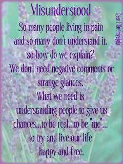 Misunderstood…