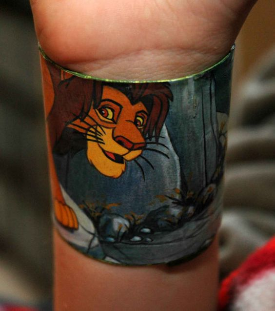 The Lion King  recycled plastic bracelet by RecycledArts on Etsy, $4.00