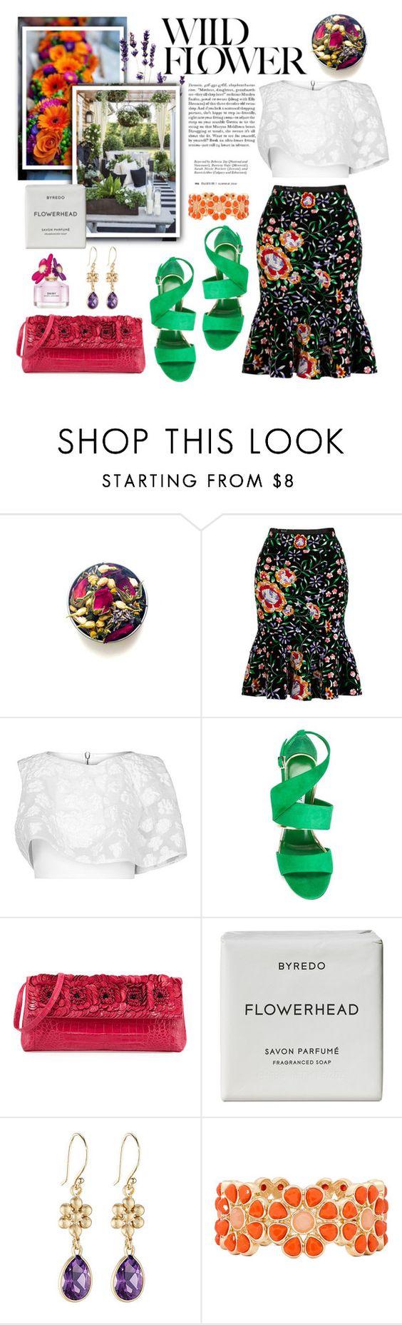 """Floral."" by vigilexi ❤ liked on Polyvore featuring Mochi, Maticevski, Jimmy Choo, Nancy Gonzalez, Byredo, Lauren Sigman Jewelry, Liz Claiborne and Marc Jacobs"