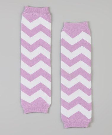 Take a look at this Lavender & White Zigzag Leg Warmers by POP Couture on #zulily today!