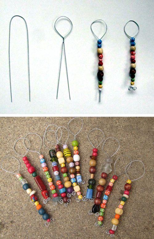 kokokoKIDS: BIG SUMMER POST 2012. String beads on wire for a bubble wand.