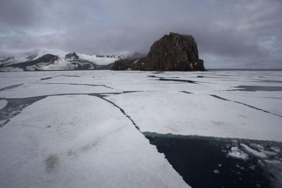 Antarctic Sound sunset and sunrise | Picture of Deception Island