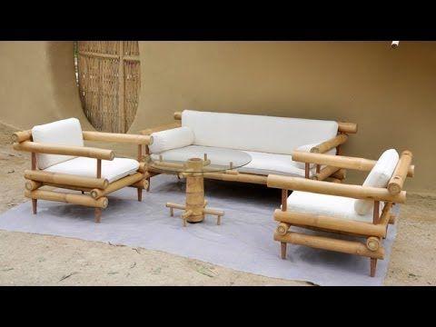 Bamboo Furniture Design Sofa, Bamboo Sofa Set