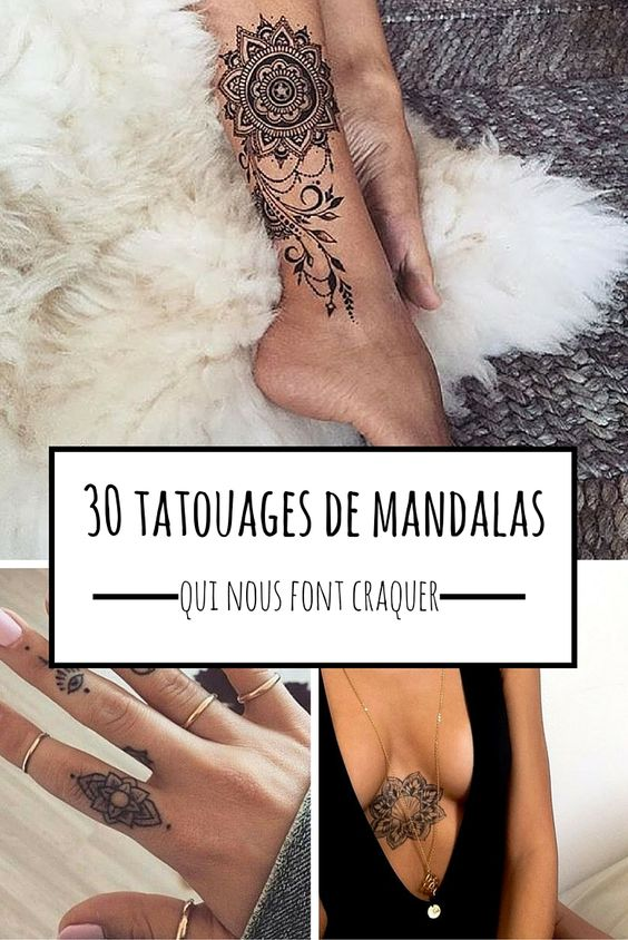 30 tatouages de mandalas qui vont vous faire craquer mandalas style and chic. Black Bedroom Furniture Sets. Home Design Ideas