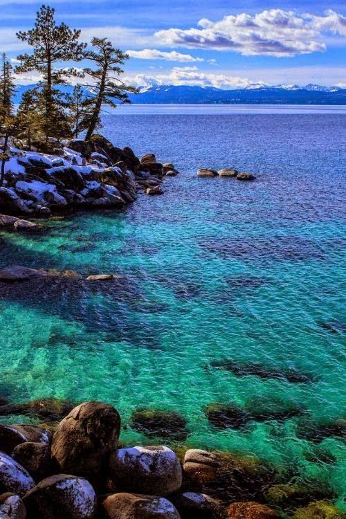 Lakes beautiful places and most beautiful on pinterest for Shore fishing lake tahoe