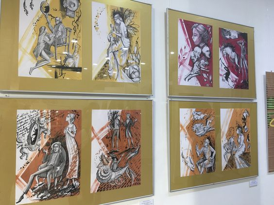 Работы художников на выставке