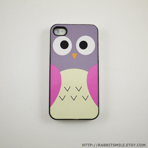Pink Owl iPhone 4 Case iPhone 4s Case iPhone 4 by rabbitsmile, $16.00.  Too bad I don't have an i-phone!
