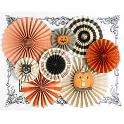 Halloween Party Fans, Set of 8
