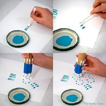 BilboPeques: Pintar con...bastoncillos