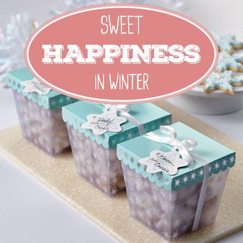 Stylische Geschenkboxen für Ihre selbgebackenen Leckereien. Thematisch passend zum Winter. Aber auch in anderen Jahreszeiten verwendbar. #Schachteln #Geschenkboxen