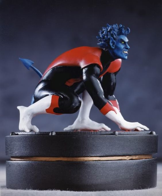 Nightcrawler Mini Statue. #3699 of 4000. 4 inches tall - Fully Painted. Sculpted by Thomas Kuntz.