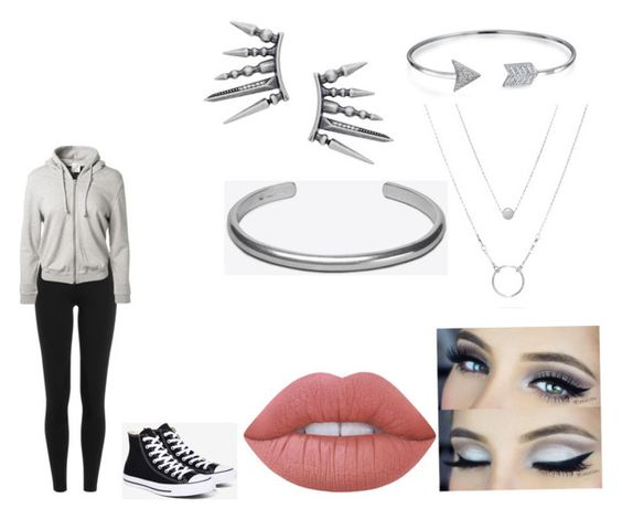"""""""Silver"""" by hardcoregamergirl on Polyvore featuring Polo Ralph Lauren, Converse, Lime Crime, Bling Jewelry and Maison Margiela"""