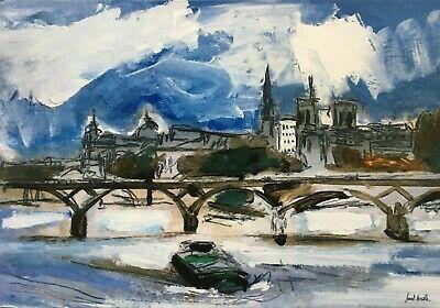 "Carte   21 cm x 14,7 cm Digital Artprint /""Le pont des arts/"""