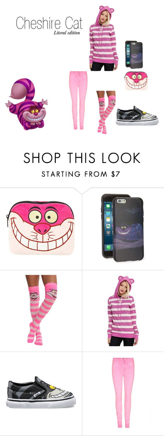 """Cheshire Cat~ DisneyBound"" by basic-disney ❤ liked on Polyvore featuring Disney, Marc by Marc Jacobs and Vans"