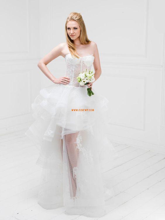 Stile Principessa Organza Applique Abiti Da Sposa 2014