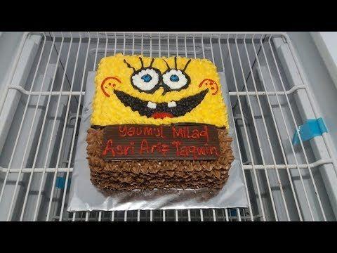 Cara Membuat Kue Ultah Spongebob How To Make A Spongebob