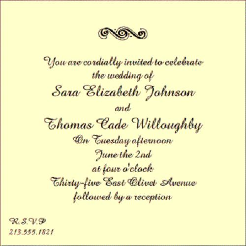 Words For Wedding Invites: Wording For Couple Wedding Invitation