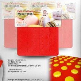 Categoría: Moldes De Silicona - Producto: Molde De Silicona Para Macarons Para 30 Unid. - Envase: Unidad - Presentación: X Unid.