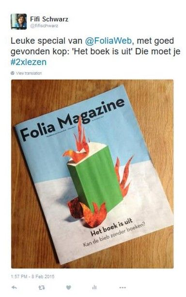 Plaatje: #2xlezen mediawijsheid taal Boek is uit