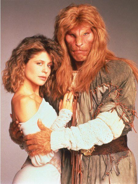 """Beauty and the Beast"" with Vincent (Ron Perlman) and Catherine (Linda Hamilton) 1987-1990:"
