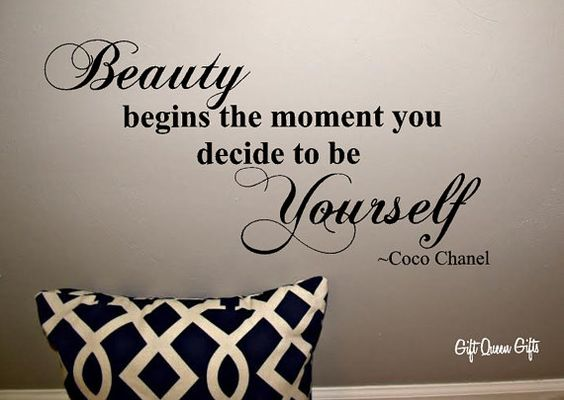 Coco Chanel Quote Wall Decal Beauty Begins The by GiftQueenGifts, $12.99 MY CLOSET>>>>>>YES: