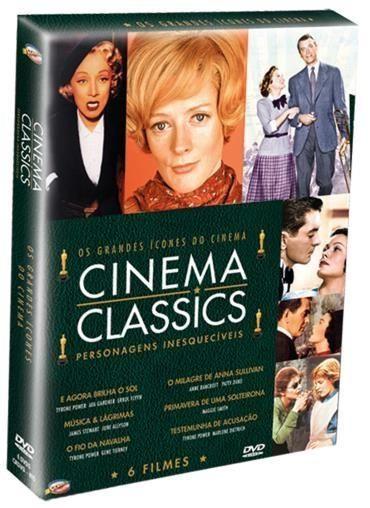 DVD Coleção Cinema Classics - Os Grandes Ícones do Cinema - 6 Discos