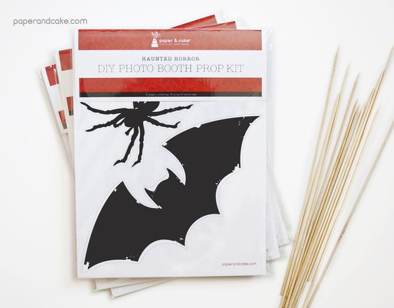 Haunted Horror Photo Booth Props DIY Kit - Paper and Cake Paper and Cake